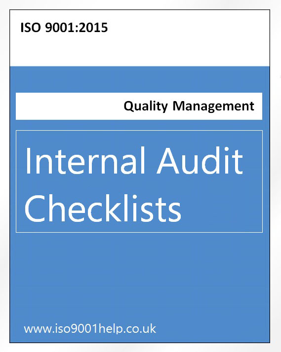 ISO 9001:2015 intneral audit checklists