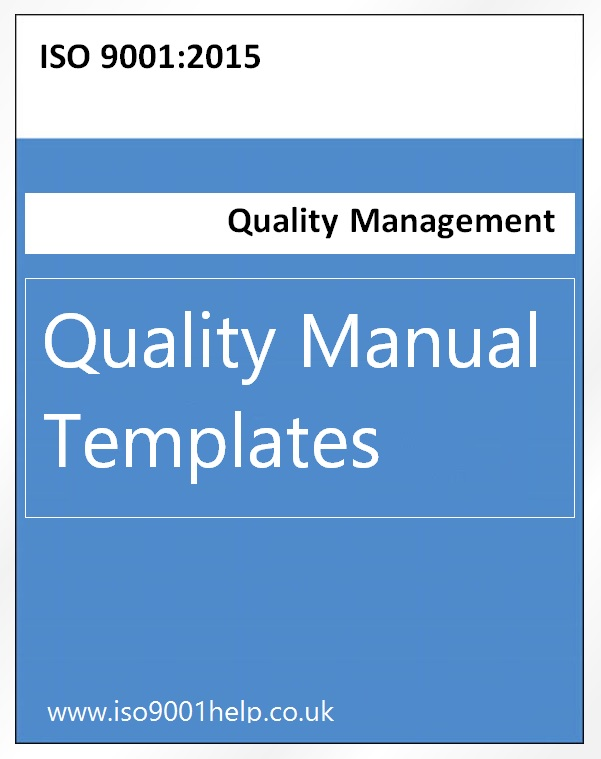 free quality control manual template - iso templates